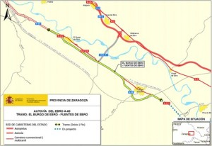 COMSA to carry out work on the A-68 between El Burgo de Ebro and Fuentes de Ebro
